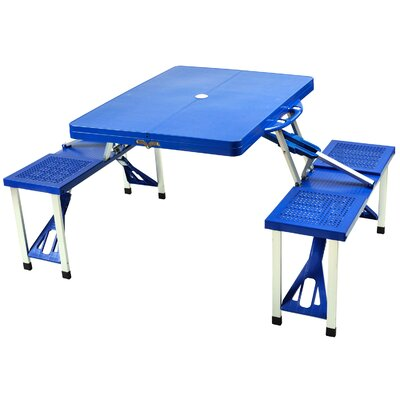 Foldable Picnic Table Finish: Blue