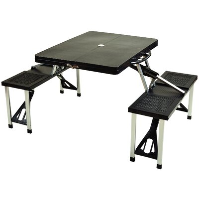 Foldable Picnic Table Finish: Black