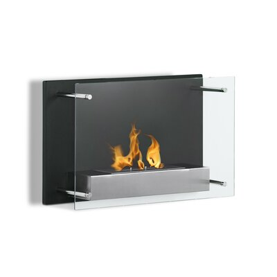 Phoenix Contemporary Furniture on Modern Elements Phoenix Wall Mount Ethanol Fireplace With Single