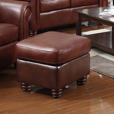 Mendocino Leather Ottoman