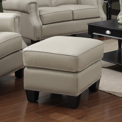 Uptown Leather Ottoman