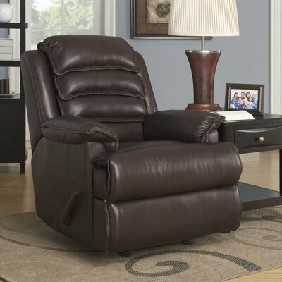 Mckinley Leather Manual Rocker Recliner