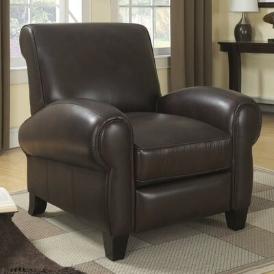 Ambassador Leather Manual Swivel Glider Recliner