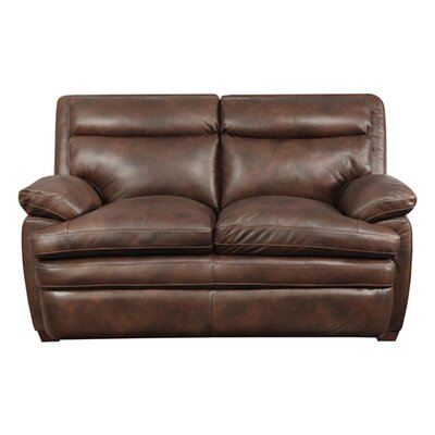 Clarkston Leather Loveseat