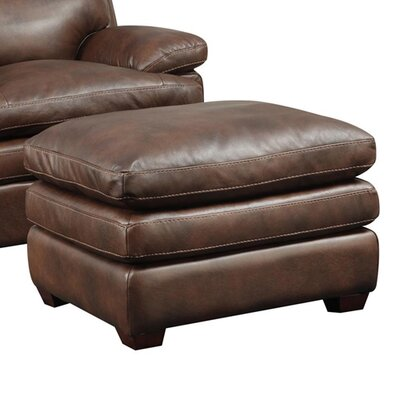 Clarkston Leather Ottoman