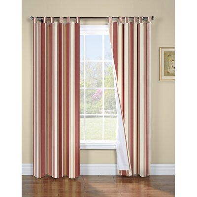 "Thermalogic Weathermate Broad Stripe Cotton Tab Top Drape Pair - Color: Terracotta, Size: 63"" H x 80"" W at Sears.com"
