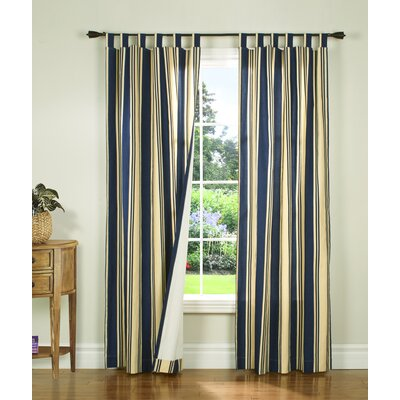 "Thermalogic Weathermate Broad Stripe Cotton Tab Top Drape Pair - Size: 84"" H x 160"" W, Color: Navy at Sears.com"