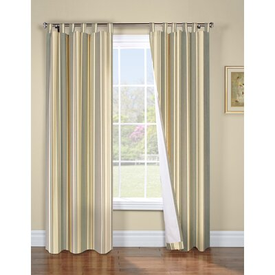 "Thermalogic Weathermate Broad Stripe Cotton Tab Top Drape Pair - Color: Sage, Size: 54"" H x 80"" W at Sears.com"