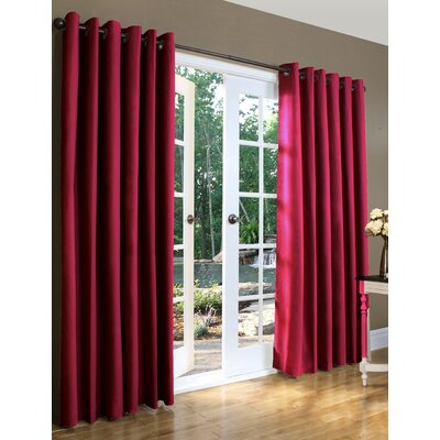 Grommet  Curtains on Solid Insulated Color Grommet Top Curtain Pairs In Burgundy   Wayfair