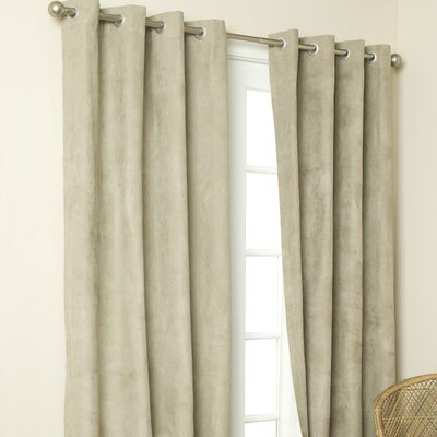 Grommet  Curtains on Insulated Solid Color Grommet Top Curtain Panel In Mushroom   Wayfair