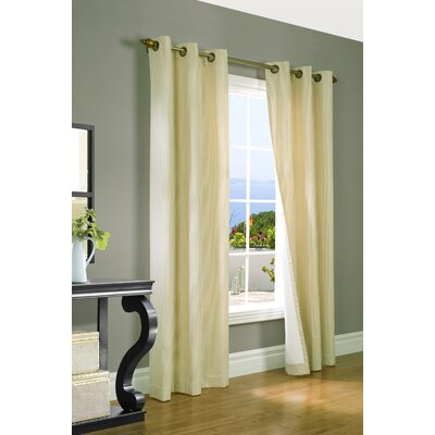 "Thermalogic Laundry Stripe Insulated Cotton Grommet Curtain Panel Pair - Color: Natural, Size: 80"" x 63"" at Sears.com"