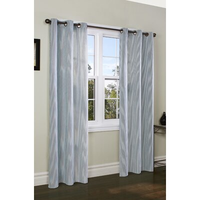 "Thermalogic Laundry Stripe Insulated Cotton Grommet Curtain Panel Pair - Color: Teal, Size: 80"" x 63"" at Sears.com"