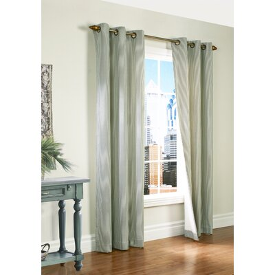 "Thermalogic Laundry Stripe Insulated Cotton Grommet Curtain Panel Pair - Color: Sage, Size: 80"" x 95"" at Sears.com"
