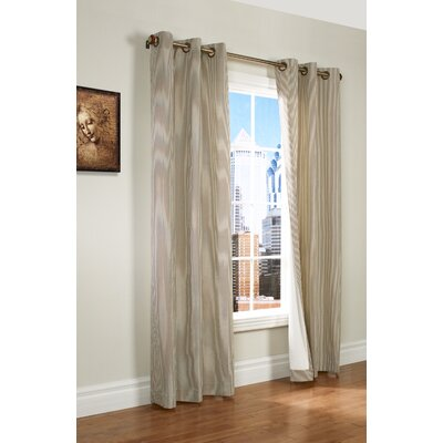 "Thermalogic Laundry Stripe Insulated Cotton Grommet Curtain Panel Pair - Color: Khaki, Size: 80"" x 63"" at Sears.com"