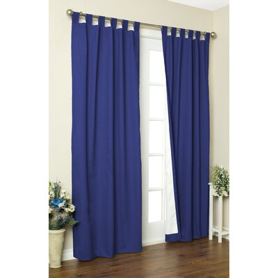 "Thermalogic Weathermate Solid Cotton Tab Top Curtain Pair - Size: 95"" H x 80"" W, Color: Navy at Sears.com"