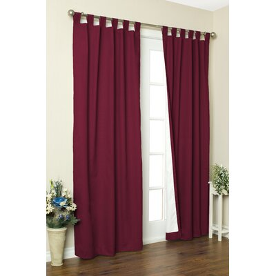 "Thermalogic Weathermate Solid Cotton Tab Top Curtain Pair - Size: 95"" H x 80"" W, Color: Burgundy at Sears.com"