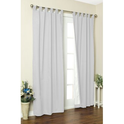 "Thermalogic Weathermate Solid Cotton Tab Top Curtain Pair - Size: 54"" H x 80"" W, Color: White at Sears.com"