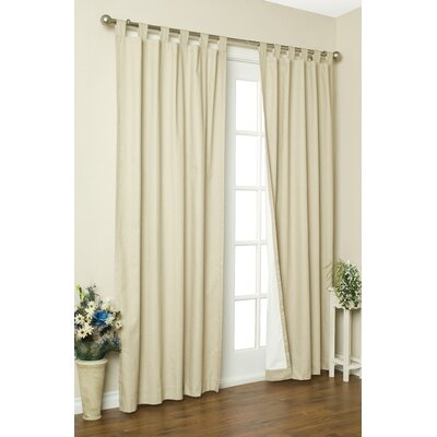Thermavoile Lined Grommet Top Panel in Ivory