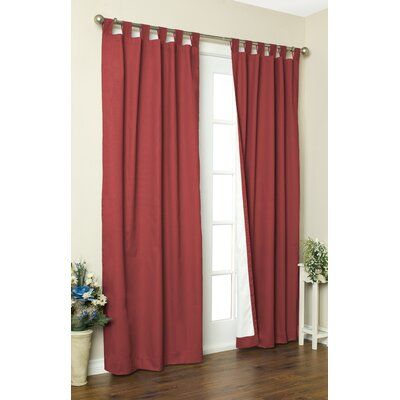 "Thermalogic Weathermate Solid Cotton Tab Top Curtain Pair - Size: 95"" H x 80"" W, Color: Terracotta at Sears.com"