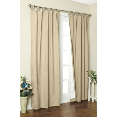 "Thermalogic Weathermate Solid Cotton Tab Top Curtain Pair - Size: 84"" H x 160"" W, Color: Khaki at Sears.com"