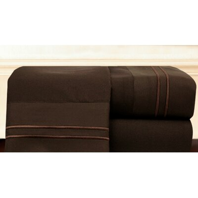Bellissimo Sheet Set Size: Queen, Color: Chocolate