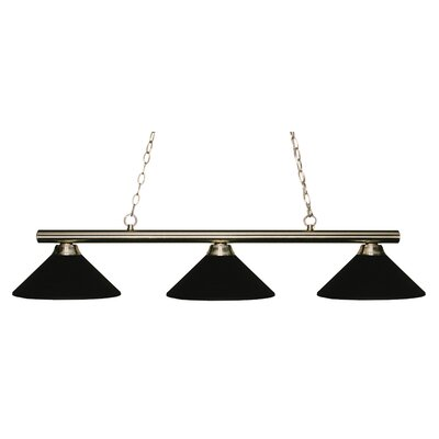 Chaparro 3-Light Billiard Light Shade Color: Matte Black