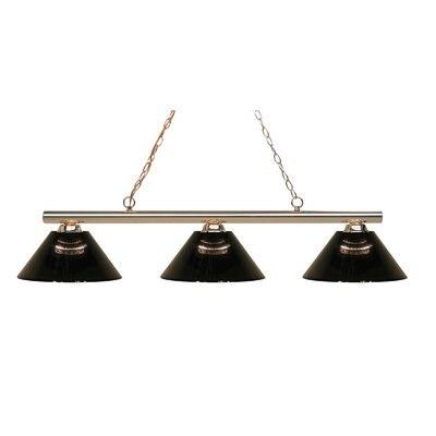 Chaparro 3-Light Kitchen Island Pendant Finish: Polished Brass, Shade Color: Smoke
