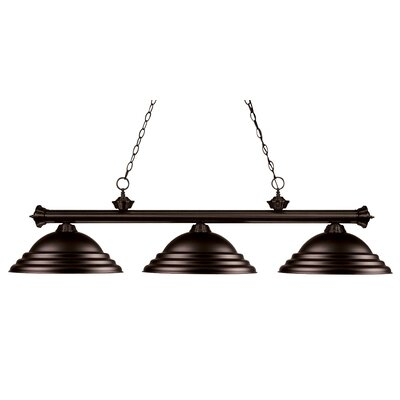 Zephyr 3-Light Metal Shade Billiard Light