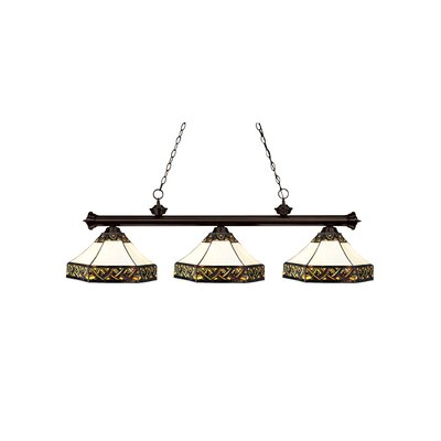 Riviera Bronze 3-Light Billiard Light