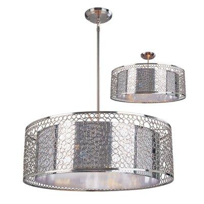 Saatchi 6-Light Drum Pendant Size: 45 H x 26 W x 26 D