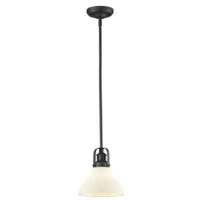Forge 1-Light Mini Pendant Size: 8.63 H x 7.5 W x 7.5 D, Finish: Bronze