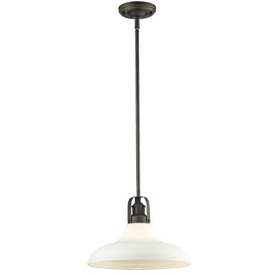 Forge 1-Light Mini Pendant Size: 9.25 H x 13 W x 13 D, Finish: Vintage Bronze