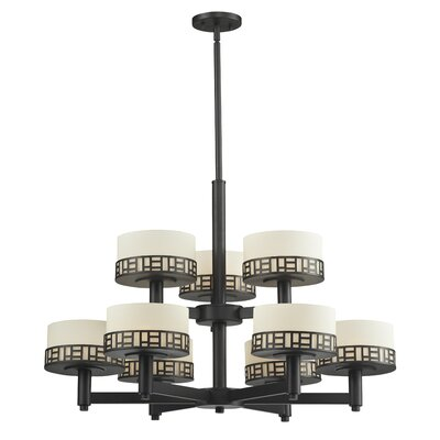 Elea 9-Light Drum Chandelier Finish: Bronze