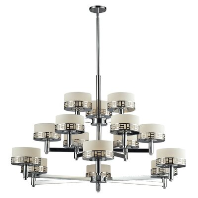 Elea 15-Light Drum Chandelier Finish: Chrome