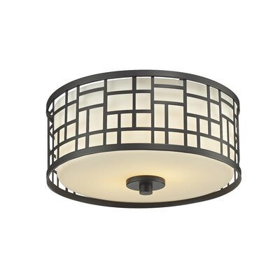 Hummer 2-Light Flush Mount Finish: Bronze
