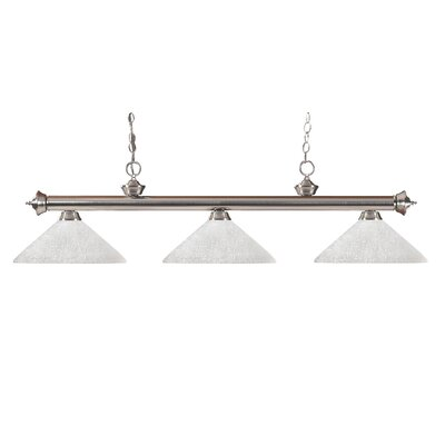 Zephyr Contemporary 3-Light Metal Billiard Light