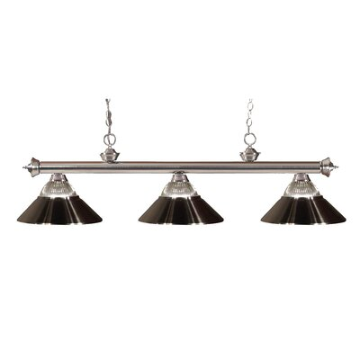 Zephyr Traditional 3-Light Cone Shade Billiard Light