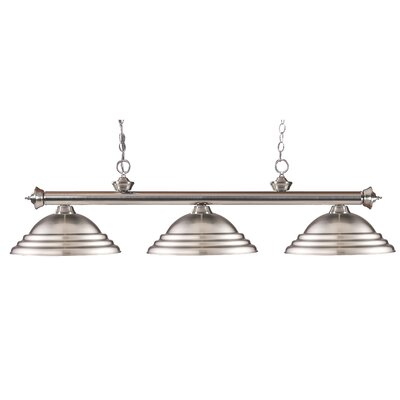 Zephyr Contemporary 3-Light Billiard Light Finish: Brushed Nickel