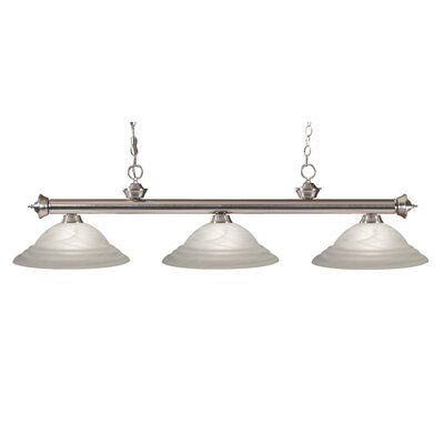 Zephyr Modern 3-Light Billiard Light