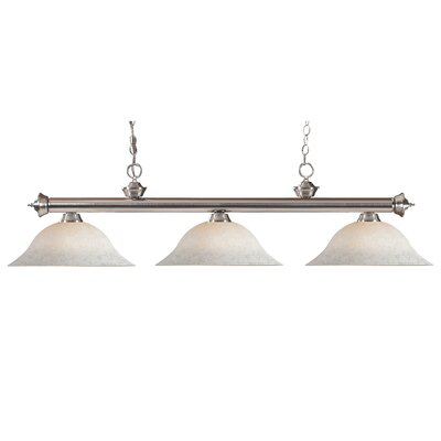 Zephyr Modern 3-Light Metal Billiard Light