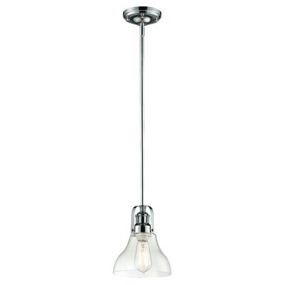 Lindley Contemporary 1-Light Mini Pendant Finish: Chrome, Size: 9.5 H x 7.5 W x 7.5 D