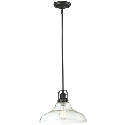 Lindley Contemporary 1-Light Mini Pendant Finish: Bronze, Size: 9.5 H x 13 W x 13 D