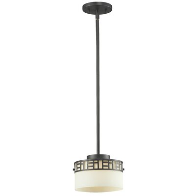 Elea 1-Light Drum Pendant Finish: Bronze