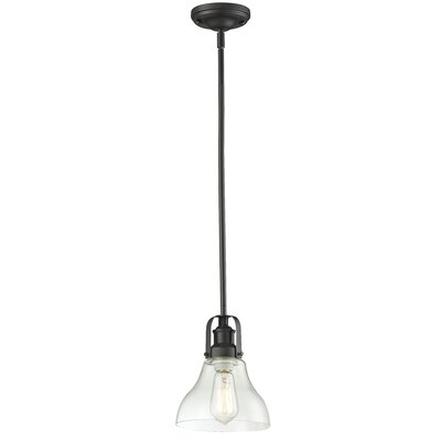 Lindley Contemporary 1-Light Mini Pendant Finish: Bronze, Size: 9.5 H x 7.5 W x 7.5 D