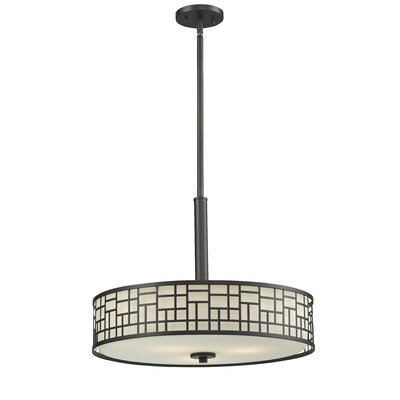 Elea 3-Light Drum Pendant Finish: Bronze
