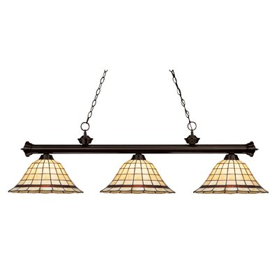 Billiot Bronze 3-Light Billiard Light
