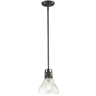 Lindley Contemporary 1-Light Mini Pendant Finish: Vintage Bronze, Size: 9.5 H x 7.5 W x 7.5 D