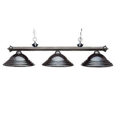 Zephyr Contemporary 3-Light Billiard Light Finish: Gun Metal