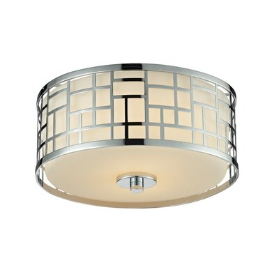 Hummer 2-Light Flush Mount Finish: Chrome