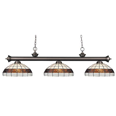 Billips Bronze 3-Light Billiard Light